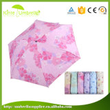 Anunciando o mini guarda-chuva de 5 dobras para a senhora