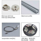 Alluminio messo di profilo del coperchio di illuminazione di striscia del LED