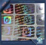 micro impressão da etiqueta do holograma da segurança do texto 3D
