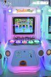 Interior com moedas filhos jogam O Jogo de Simulador de fotografia