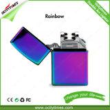 Großhandelsmetalldoppellichtbogen USB-nachladbares Feuerzeug in den Defferent Farben