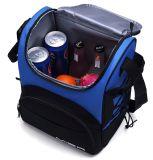 Grand sac bleu de refroidisseur de vin de pique-nique d'épaule avec la porte-bouteilles pour les hommes et des femmes
