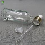 Module rond de bouteille en verre d'huile essentielle