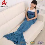 Coperta acrilica della coda della sirena del Crochet del Knit del merletto bello per le ragazze