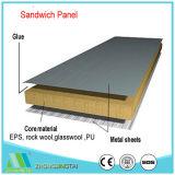 Панель стены крыши сандвича стеклянной ваты шерстей утеса EPS/продолжительного цвета металла материального стальная для Prefab дома