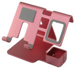 Novo Design de metal preta de alumínio Celular Tablet suporte para secretária Suporte para telefone inteligente e uma caneta