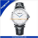 Neuf développer la montre de Quratz avec la bande de cuir véritable