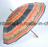 مقرضة خشبيّ مظلة مستقيمة في 16 أضلاع