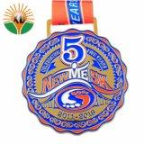 De fabriek Aangepaste Medaille van het Messing van de Herinnering van de Sport van het Ontwerp van het Embleem Gouden Zilveren