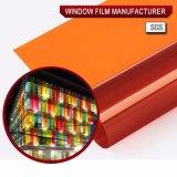 Цветастая пленка окна подкраской для декоративного померанцового типа