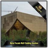 Façade extérieure de l'or de luxe décoratif Panneau en aluminium