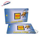 O cartão de identificação de negócios de alto desempenho com o Código QR