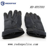 Перчатки хоука тактического тяжёлого удара полиций воинские кожаный Nylon черные