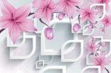 Papier muraux chinois pour orchidées photo 3D pour peintures à domicile