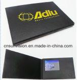"""2.4 """" LCDのビデオ郵便利用者のパンフレットの商号のカード"""