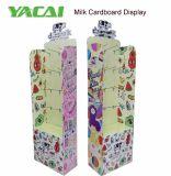 Étalage de Pegboard de carton ondulé de lait en poudre, présentoir de crochets de carton