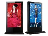 65 LCD van de duim de Openlucht Digitale Signage Kiosk van het Scherm van de Aanraking van de Tribune van de Vloer