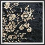 Bordados de tecido de veludo de cadeia cadeia de flores de tecidos e bordados