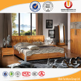 Тип кровать мебели спальни размера двойника твердой древесины Antique европейская (UL-C02)
