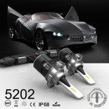 Automobile del faro di B6 5202 LED con la turbina 24W 3600lm