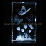 Cubo de cristal dos Tulips 3D (AQ80048)