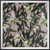 Полиэстер тюль вышивка кружева цветы и листья с вышитым кружевом