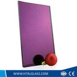El espejo/el flotador de oro/anaranjados del color de rosa grabó el vidrio/el espejo rodado coloreado