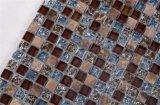 Qj002 decorar la pared 15x15mm Brown Mosaico de vidrio de cocina