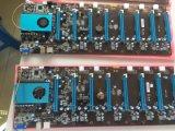 Pin della carta grafica 6 di sostegno 8 della scanalatura della scheda madre 8 PCI-E di funzionamento di Skylake 3855u 8GPU per estrazione mineraria Eth di Btc