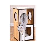 Simples em madeira de alta qualidade Grande Piscina Cat Tree House (YS98867)