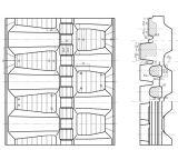 rasto de borracha (250*48.5K*84) para máquinas de construção carregadora de direção deslizante