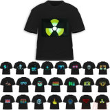 T-shirts électroluminescents activés par le son