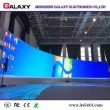 Visualización de LED P2.98/P3.91/P4.81/P5.95 de la curva/pared/el panel/muestra/tarjeta de alquiler de interior a todo color Shaped para la demostración, etapa, conferencia, acontecimiento