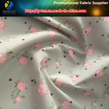 ジャケット、ポリエステルのための転送の印刷を用いる50d/72fポリエステル完全で鈍いタフタは編まれた織布を印刷した