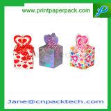 Rectángulo de empaquetado de papel de lujo del rectángulo de regalo de la Navidad de la joyería de los pendientes del anillo