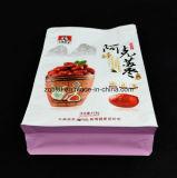 Flache Unterseiten-Fastfood- Beutel-Aluminiumfolie-Reißverschluss-Verschluss-Kaffee-Beutel-Packpapier-lamellierte aufrechte Nahrungsmittelplastiktasche für rote Datteln