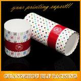 Caja de regalo de papel con forma de cilindro