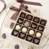 Rectángulo de empaquetado del chocolate de la alta calidad del regalo hecho a mano del papel