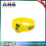 Wristband do partido do silicone de ISO14443 13.56MHz RFID Miifare
