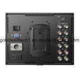 """Doppel3g SDI gab 7 """" das Monitor IPS-Panel, mit mit Wellenform Vectorscope RGB Histogramm ein"""