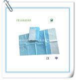 Babero médico disponible del papel de la absorción con el lazo del cuello
