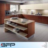 ラッカー台所上部の壁の食器棚の混合された木製のVennerの基礎キャビネット