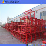 Ss100 / 100 1ton Double Cage Material Hoist for Construction
