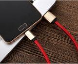 Câble de remplissage en cuir du micro USB d'unité centrale de 1 mètre 5V 2A pour l'androïde