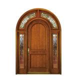 Portas interiores da madeira contínua de projeto moderno de preço de fábrica