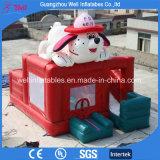 Het mooie Opblaasbare Kasteel van de Hond met het Speelgoed van Bouncy Combo van de Dia
