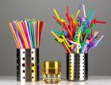 Paja flexible disponible del plástico de las pajas de beber de 10.3 pulgadas