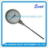 Industria del Acero Inoxidable Termómetro bimetálico para Instrumentos de Temperatura