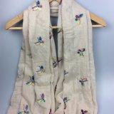 Cachecol de borboleta de impressão, cachecol Voile, acessório de moda de xale de poliéster