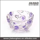 Cor de pulverização a cal sodada Deep Rose tigela de vidro (GB1615MG-1/PDS)